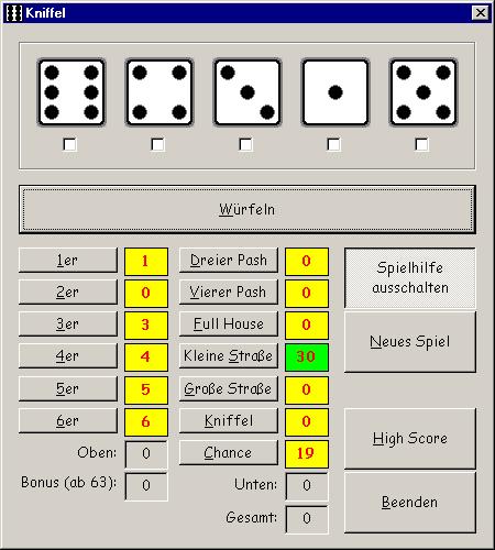 kniffel game